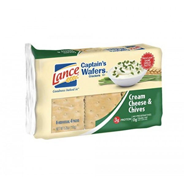 Lance Captains Wafers Cream Cheese and Chives 2pk
