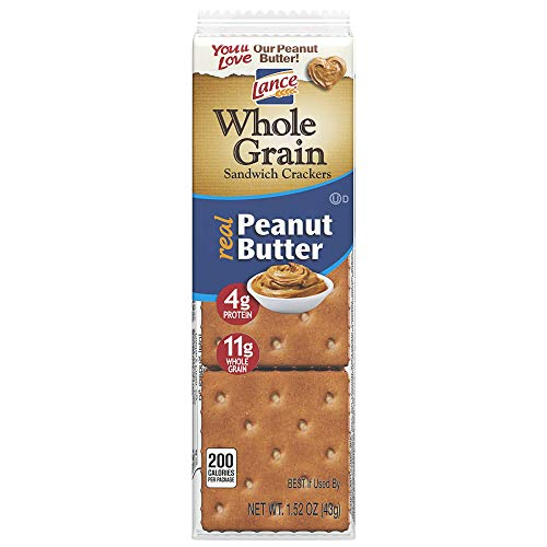 Lance Whole Grain Peanut Butter Cracker Packs - 8 CT