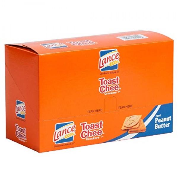 Lance Toast Chee Peanut Butter Sandwich Crackers, 1.5 Ounce - 20...