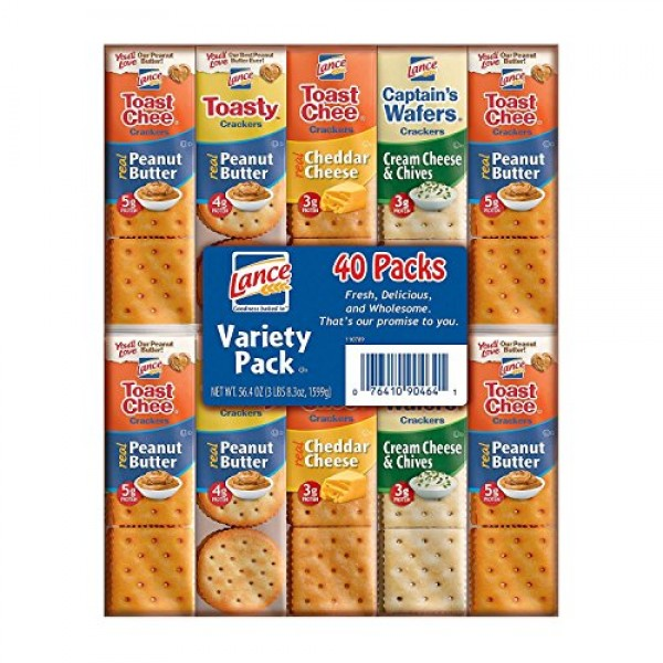 Lance Variety Pack,40 count, 56.8 oz total weight