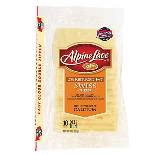 Land O Lakes Alpine Lace Swiss Deli Cheese Slice, 8 Ounce -- 12 ...