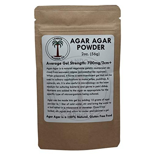 Agar Agar Powder - 2 Ounces 56 Grams - Average Gel Strength