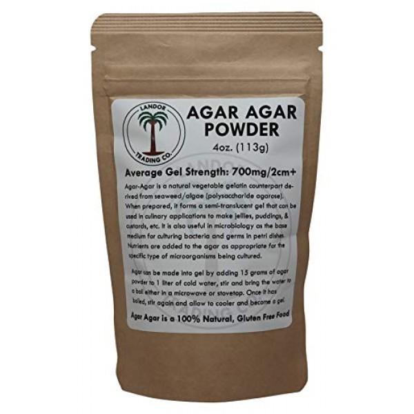 Agar Agar Powder 4 Ounces - Average Gel Strength