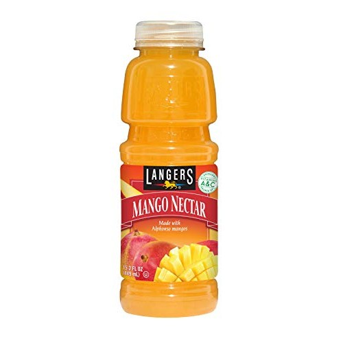 Langers Juice, Mango Nectar, 15.2 Ounce Pack of 12