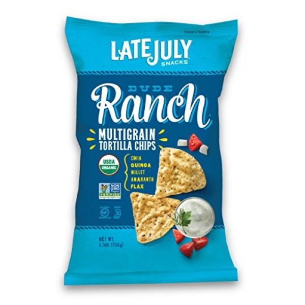 Late July Organic Snacks Dude Ranch Multigrain Tortilla Chips, 5...