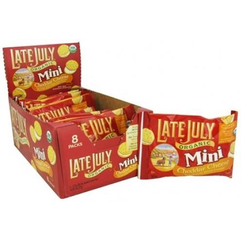 Late July Organic - Mini Organic Bite Size Sandwich Crackers Che...