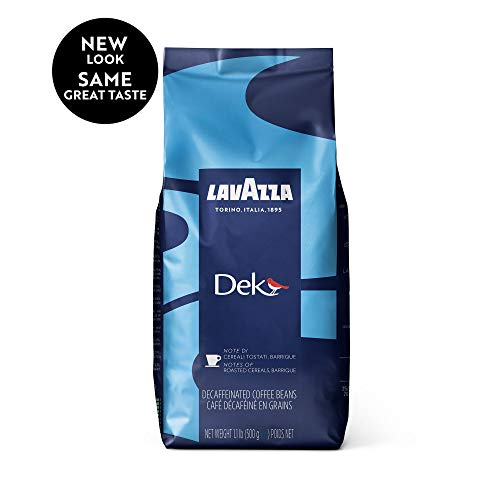 Lavazza Dek Whole Bean Coffee Blend, Decaffeinated Dark Espresso...