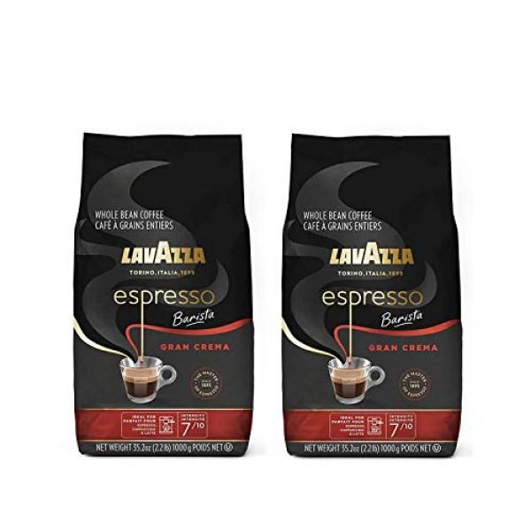Lavazza Gran Crema Espresso, 2.2-Pound - Pack of 2 Packaging Ma...