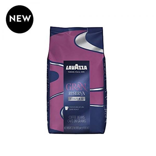 Lavazza Gran Riserva Filtro Whole Bean Coffee Dark Roast 2.2LB Bag
