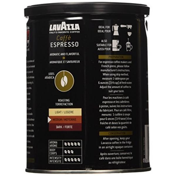 Lavazza Italian Coffee, Caffe Espresso, 100% Premium Arabica Gro...