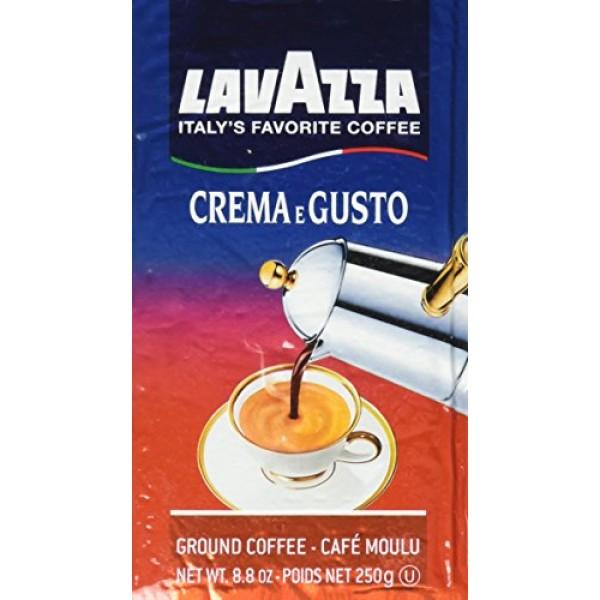 Lavazza Italian Espresso Crema Gusto Ground Coffee, 8.8 oz