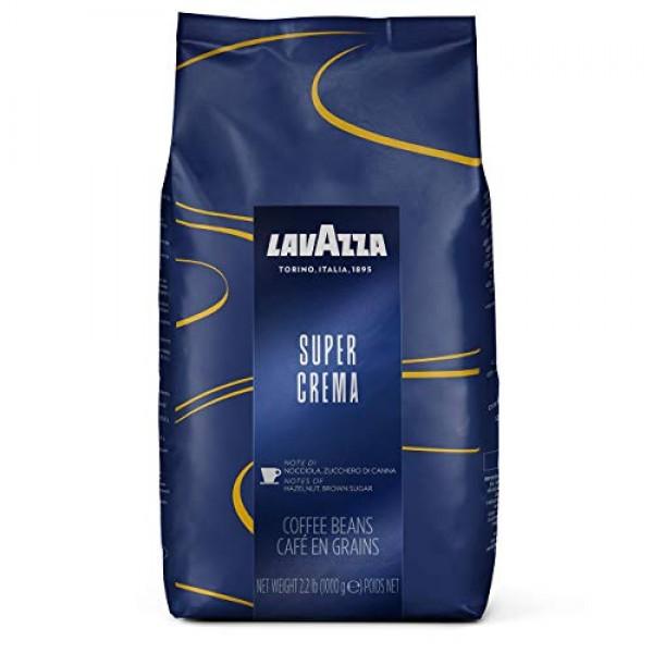 Lavazza Super Crema Whole Bean Coffee Blend, Medium Espresso Roa...