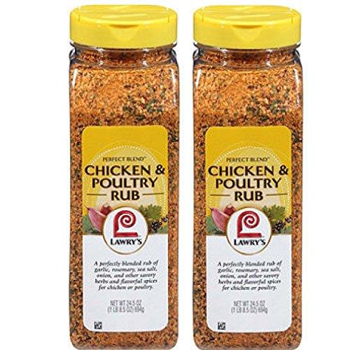 Lawrys Perfect Blend Chicken Rub And Seasoning, 24.5 oz 24.5 oz