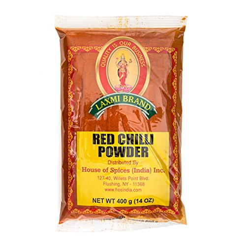Laxmi Ground Red Chili Powder 14 oz., Traditional Indian Cooking...