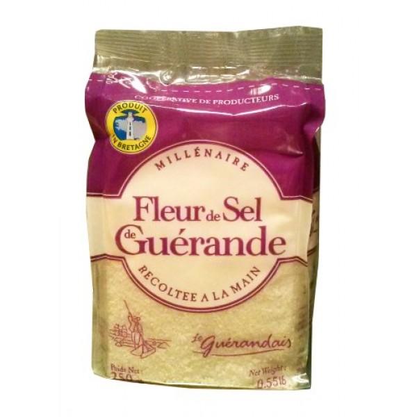 Guerande Fleur De Sel Sea Salt - Large refill bag 8.8oz