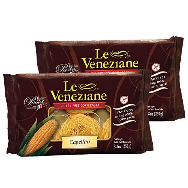 Le Veneziane Capellini- Gluten Free Pasta, 8.8 oz 2 Pack