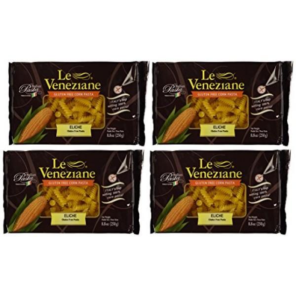 Le Veneziane - Italian Fusilli Eliche Pasta [Gluten-Free], 4...