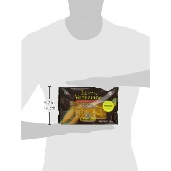 Le Veneziane Penne Rigate, 250-Gram Packages Pack of 6