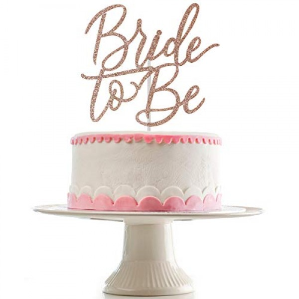 Bride To Be Cake Topper for Bachelorette Party,Wedding,Bridal Sh...