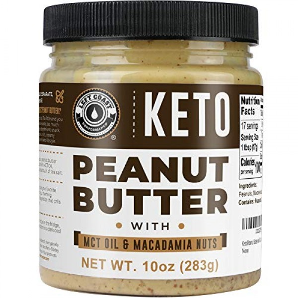 Keto Peanut Butter with Macadamia Nuts and MCT Oil 10oz - [Smoot...