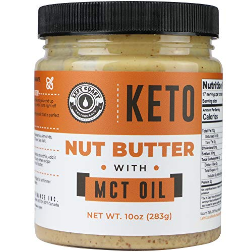 Keto Nut Butter Fat Bomb [Crunchy], Macadamia Low Carb Nut Butte...