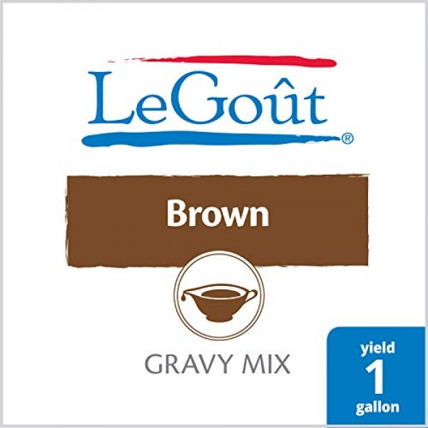 LeGout Brown Instant Gravy Mix 0g Trans Fat, 13.29 oz, Pack of 8