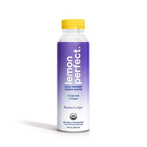 Lemon Perfect, Organic Cold-Pressed Lemon Water, Blueberry Açaí,...
