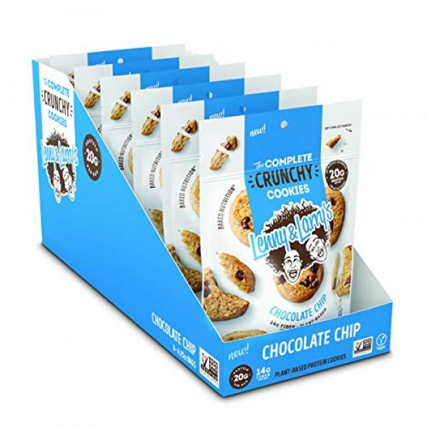 Lenny & Larrys The Complete Crunchy Cookies, Chocolate Chip, 4....