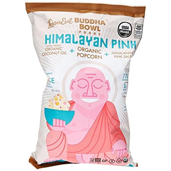 Lesser Evil Buddha Bowl Himalayan Pink Organic Popcorn, 5 oz