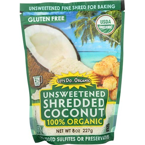 Lets Do Organics Organic Shredded Coconut, 8 Oz