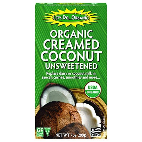 Lets Do Organic Creamed Coconut, 7 Ounce Box Pack of 6