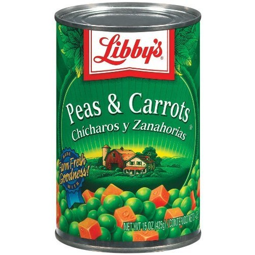 Libbys Peas & Carrots 15 Oz Pack of 6