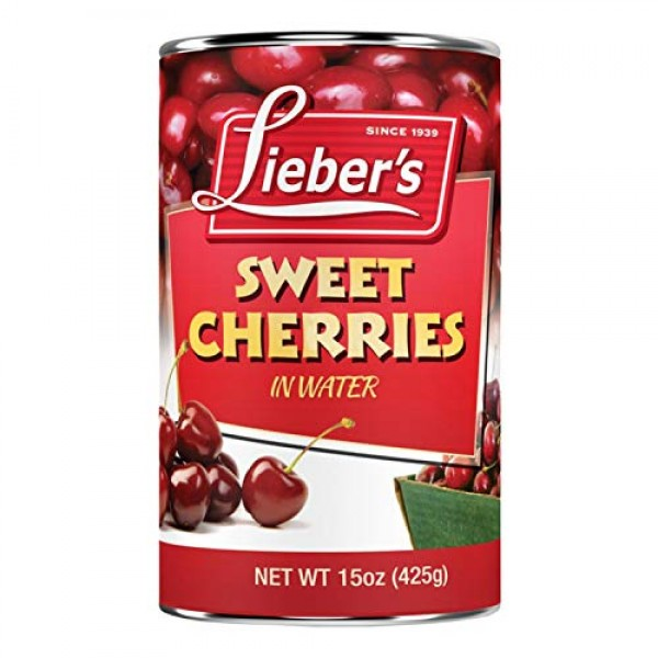 Liebers Sweet Cherries 15 Oz - Kosher For Passover Single