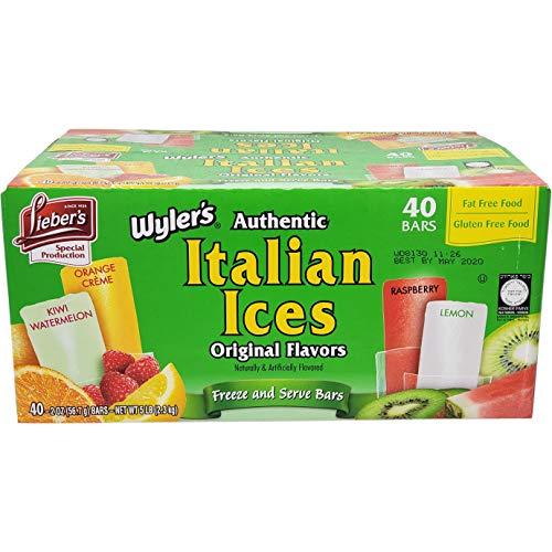 Liebers Wylers Italian Ices Original Flavors, Kosher, Gluten-F...