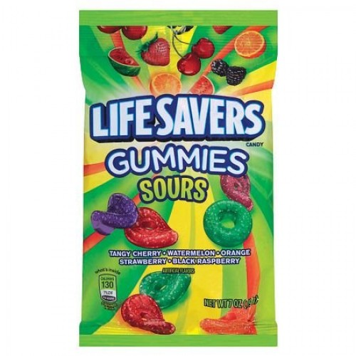 LifeSavers Gummies Candy Sours 5 Flavors 7.0 oz. (Pack of 2)