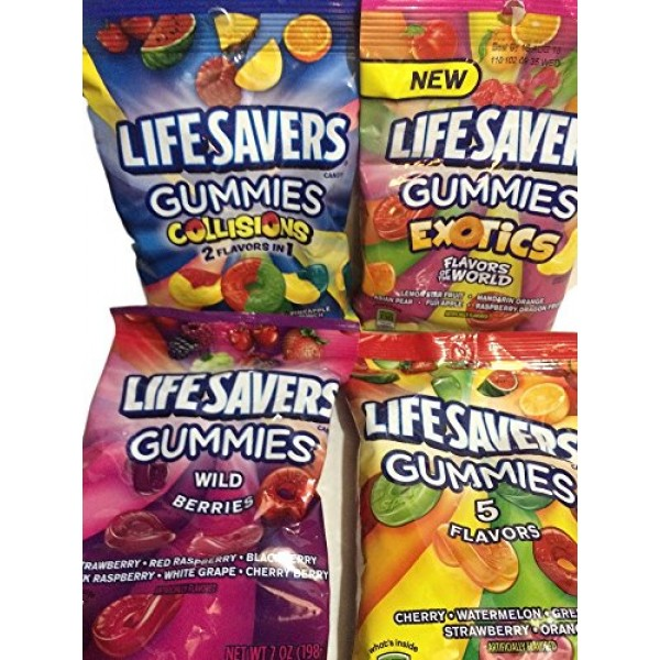Lifesavers Gummies, Collisions, Wild Berries, Original & Exotics...