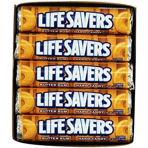 Life Savers Butter Rum Hard Candy, 1.14 ounce 20 Single Packs