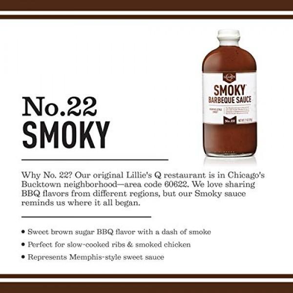 Lillies Q - Smoky Barbeque Sauce, Gourmet BBQ Sauce, Sweet Brow...