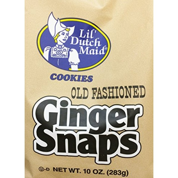 2 x 10oz Lils Dutch Maid Old Fashioned Ginger Snaps Cookies Tw...