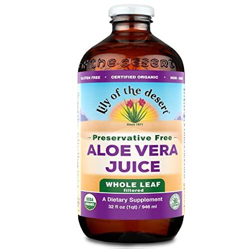 Lily Of The Desert Organic Aloe Vera Juice, Whole Leaf, No Prese...