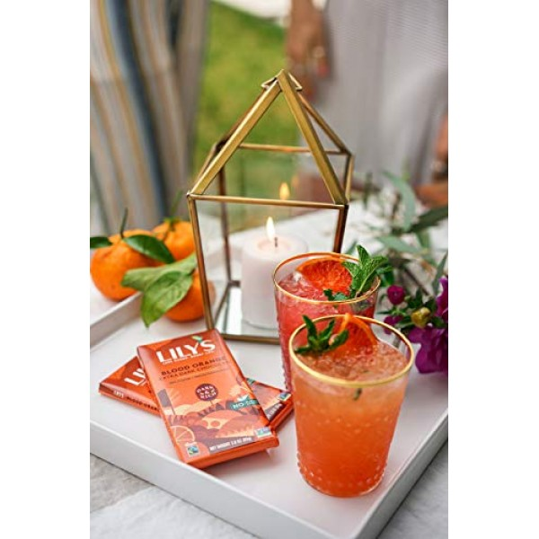Blood Orange Dark Chocolate Bar by Lilys Sweets | Stevia Sweete...