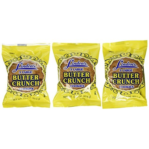 Lindens Butter Crunch Cookies 3 Cookies Per Pack 18 -1.75 Oz. ...