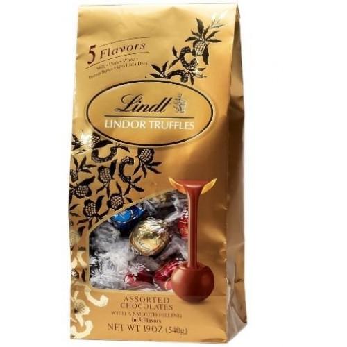 Lindt Lindor Truffles Assorted 5 Flavors -50ct Gift Bag 21.2 Oz ...