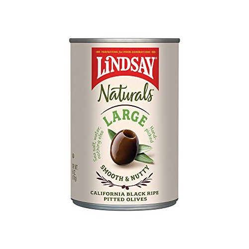 Lindsay Naturals Large Pitted Ripe Black Olives, 6 oz Pack of 12