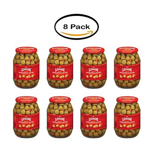 PACK OF 8 - Lindsay Spanish Pimiento Stuffed Manzanilla Olives, ...