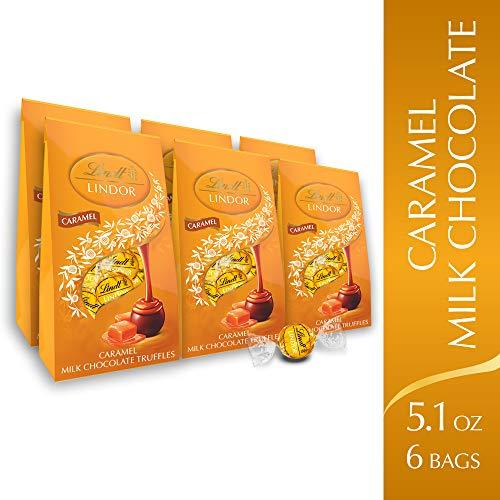 Lindt Lindor Caramel Milk Chocolate Truffles, 5.1oz Pack of 6