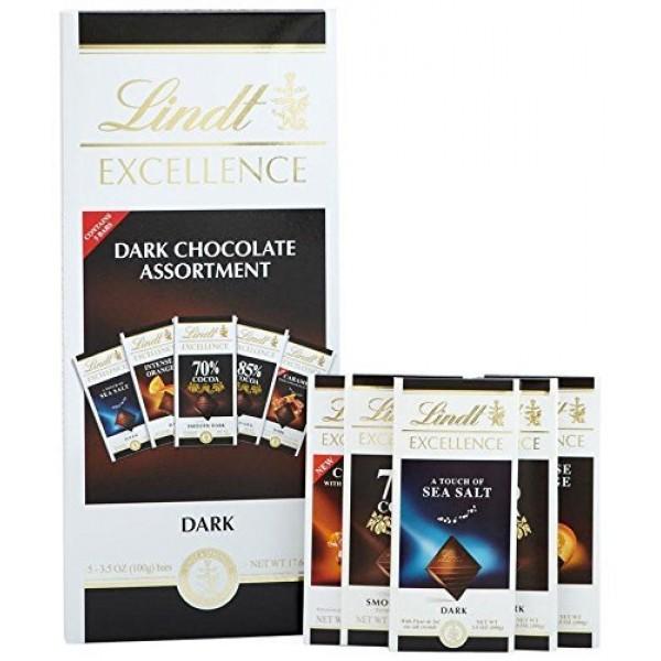 Lindt Lindor Dark Chocolate Assortment Gift Box, Assorted