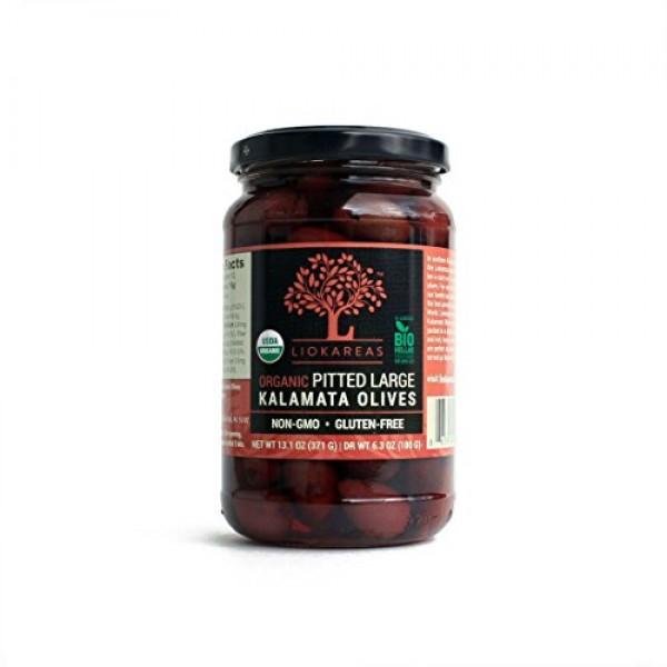 Organic Kalamata Olives - NON-GMO - Gluten Free - Pitted - USDA ...