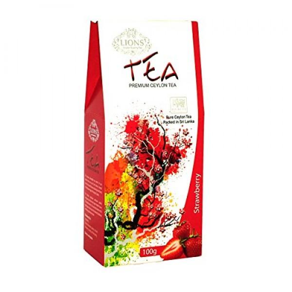 Lions Strawberry, Black Tea Loose Leaf, 100 grams