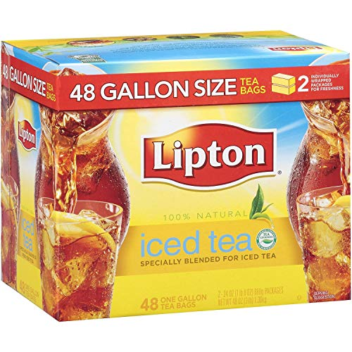 Lipton Iced Tea, Gallon Size Tea Bags 48 ct. pack of 2
